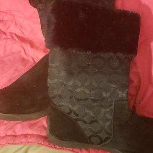 Size 11 women's Coach winter boots